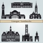 Постер, плакат: Limoges landmarks and monuments