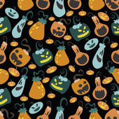 Halloween pumpkin pattern 03 in editable vector file