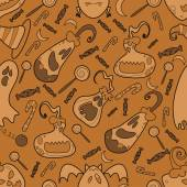 Halloween pumpkin pattern 02 in editable vector file