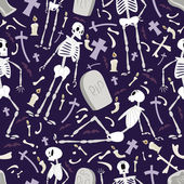 Halloween skeletons pattern 02 in editable vector file