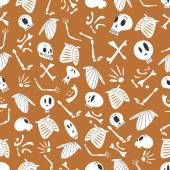 Halloween skeletons pattern 03 in editable vector file