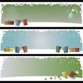 Set of 3 Christmas banners in editable vector file