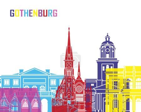 Gothenburg skyline pop in editable vector file...