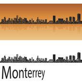 Monterrey skyline in orange