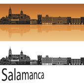 Salamanca skyline in orange