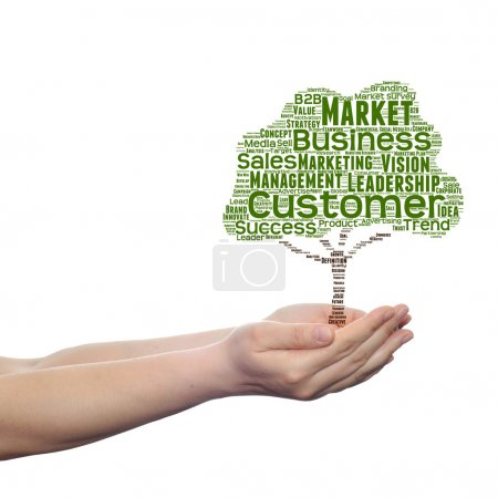 tree business word cloud