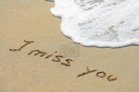 Handwritten I miss you text