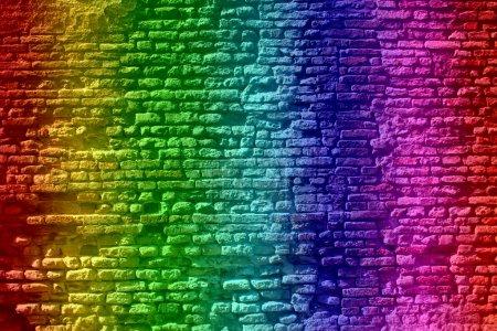 Vintage grungy brick wall