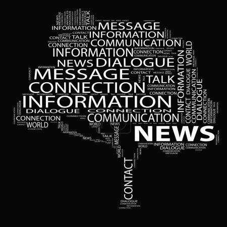 Tree news word cloud