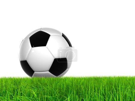 Soccer ball at horizon
