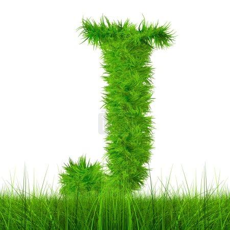 Photo pour Concept ou concept vert herbe, éco ou écologie symbole police isolé sur fond blanc - image libre de droit