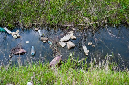 Unhygienic polluted river