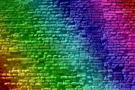graffiti old  brick wall