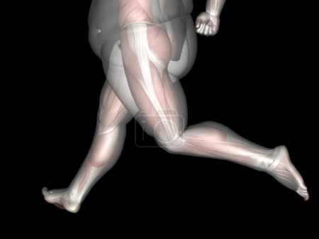 Overweight vs slim fit  man