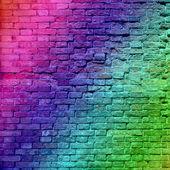 Muro di mattoni sgangherata depoca