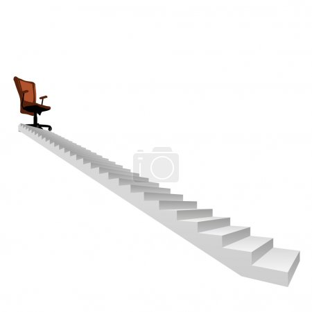 stair climbing to a leader