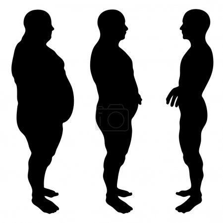 Slim fit diet with muscular young men