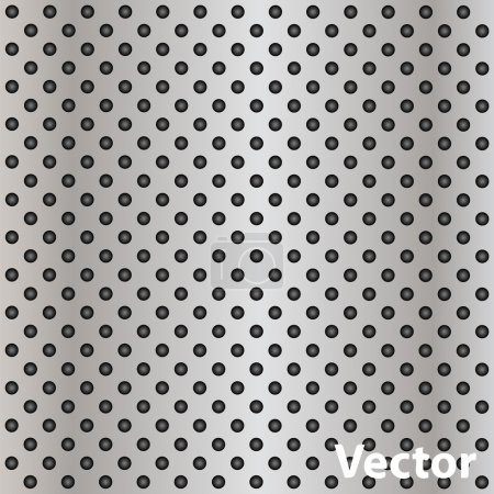 Vector metal perforated texture