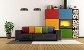 Barevné obývací pokoj