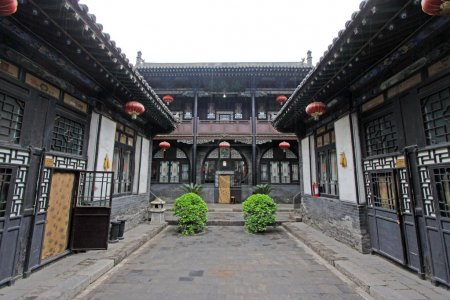 Chinese traditional architectural style courtyard