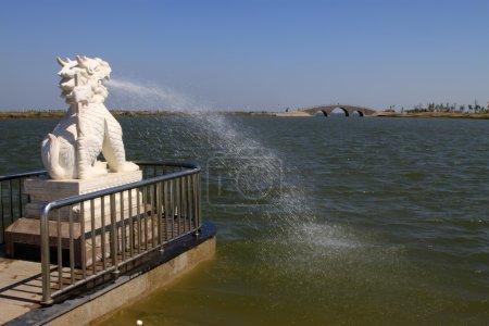 lion marble sculpture fountain