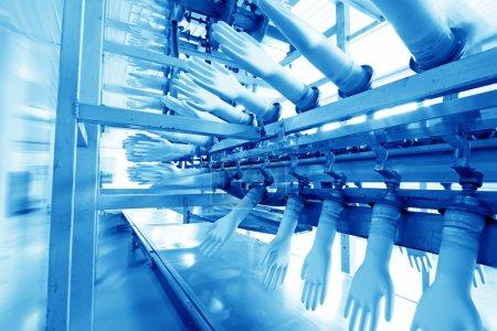 Acrylonitrile butadiene gloves production