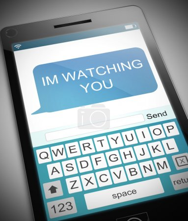 Watching you concept.