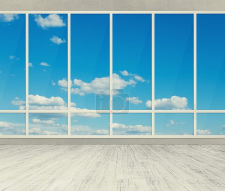 Photo for Modern office with big windows - Royalty Free Image