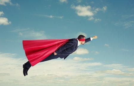superhero flying high