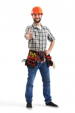 Smiley workman with tools