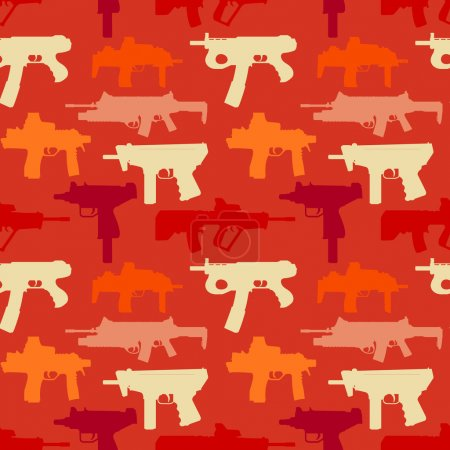 Seamless pattern woth weapons