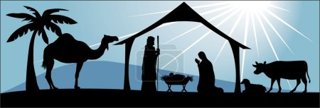 A Chirtmas nativity scene