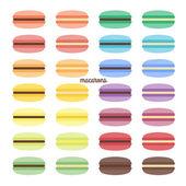 Set of sweet macarons