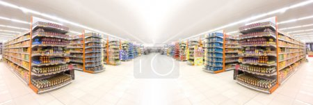 Photo for Supermarkets, lens blur effect. - Royalty Free Image