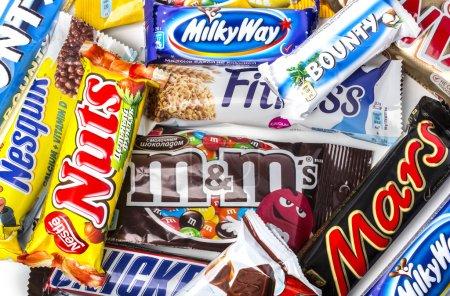 various chocolate bars