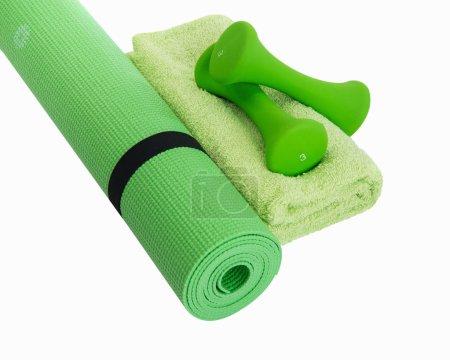 Photo pour Workout tools for healthy female results - image libre de droit
