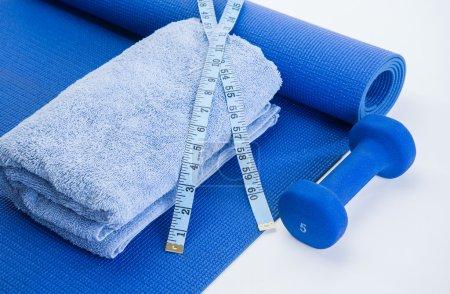 Photo pour Workout tools for healthy lifestyle results - image libre de droit