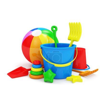 Group of Sandbox Toys