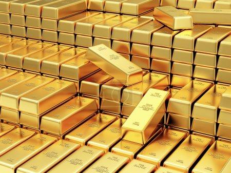 Golden Bars in the Bank Vault