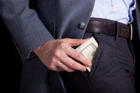 Money in your pocket. money in hands...