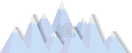 Illustration pour Chaîne de montagnes avec pics de glace, eps10 - image libre de droit