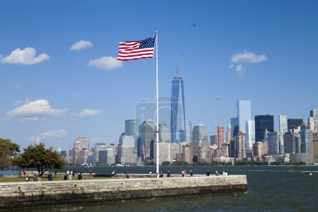 New York City, One World Trade Center and Ellis Island