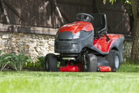 Small tractor for cutting lawn