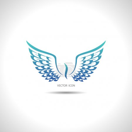 Illustration for Icon with wings - Royalty Free Image