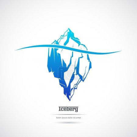 Iceberg on a white background. Icon.