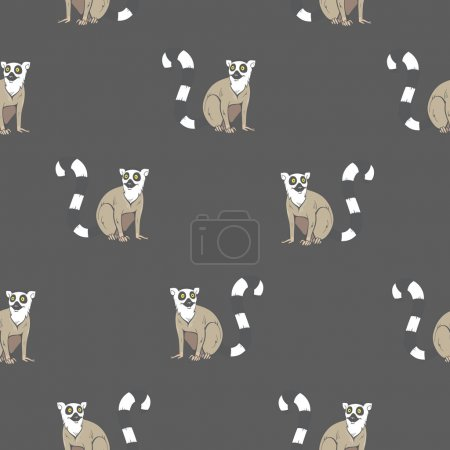 Pattern with lemurs