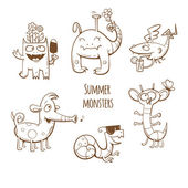 Summer monsters set