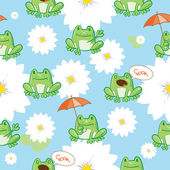 Pattern with frogs