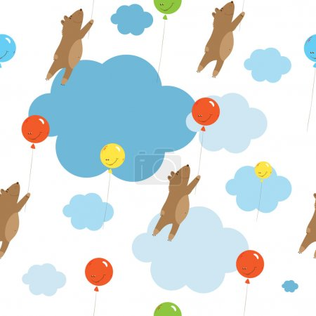 Pattern with balloons.