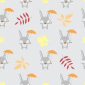 Pattern with hares